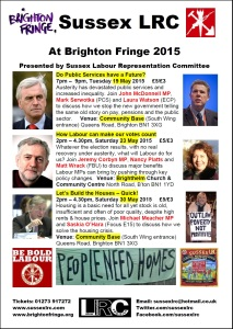Download and display our poster covering all three of our 2015 Brighton Fringe events