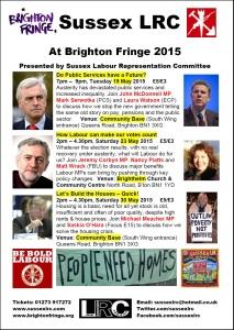 2015 Brighton Fringe poster