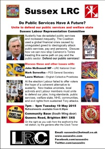 Download and display the poster for our PCS fringe on Tuesday 19 May