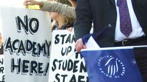 NUT-No-Academies-placard
