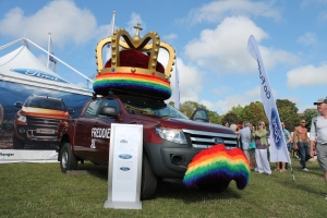 Pride car in park