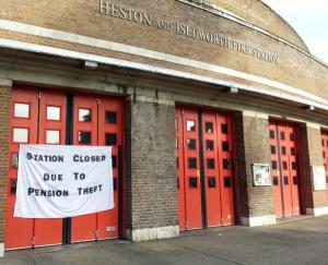 Heston Station closed due to pension theft