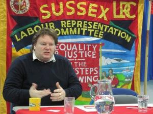 Ian Hodson speaking to Sussex LRC (c) Nick Hider