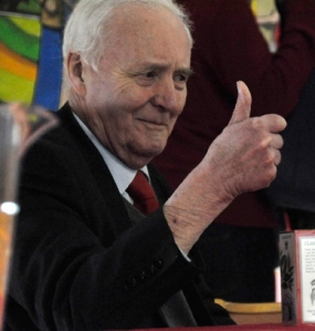 Tony Benn at Brighton Fringe 2012; (c) Morten Watkins