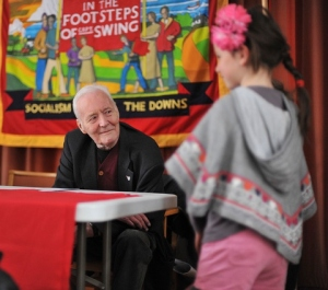 Tony Benn at Brighton Fringe 2013; (c) Morten Watkins