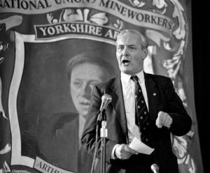 Tony Benn steadfastly supported the miners throughout the 1984/85 strike