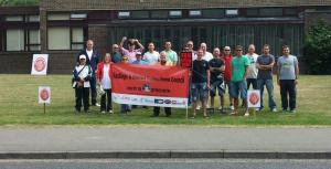 Hastings picket joined by Labour and Trades Council members