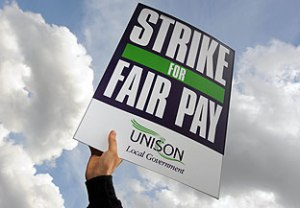 Strike for fair pay