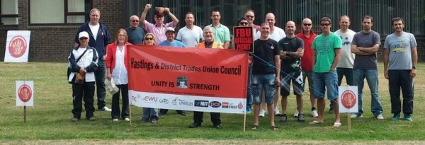 Hastings solidarity picket