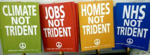 Not Trident placards