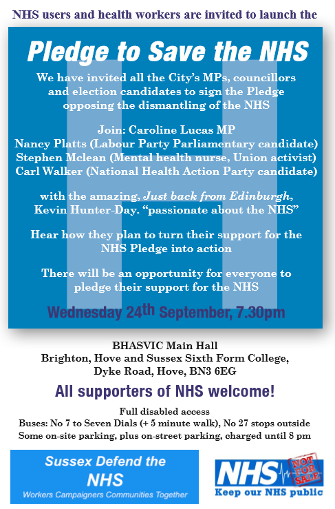 Pledge to Save the NHS