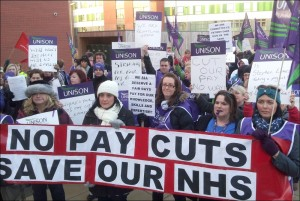 UNISON no pay cuts, save our NHS