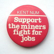 Kent NUM 1984 badge