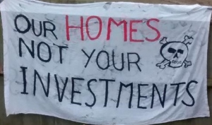 Our homes not your investments banner