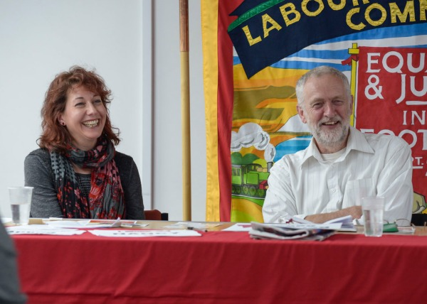 Not just Nancy Platts and Jeremy Corbyn MP but everyone enjoys themselves at Sussex LRC events!  (copyright Morten Watkins)