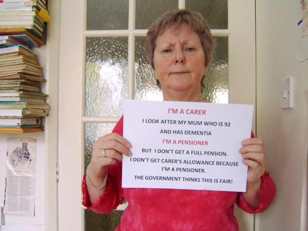 Carers protest