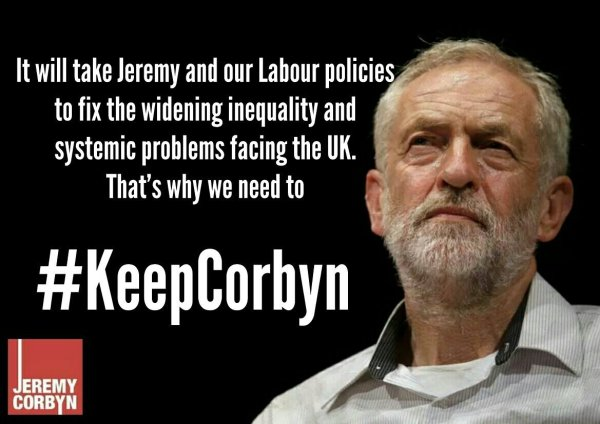 Keep Corbyn to fix UK